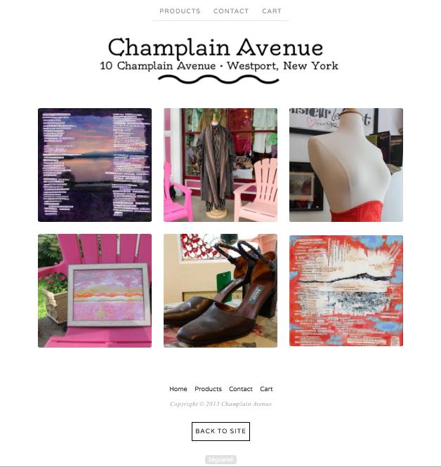 Champlain Avenue web store