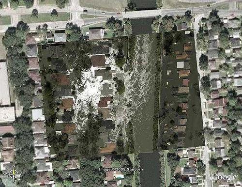 London St. levee breech - closer, w/out street grid