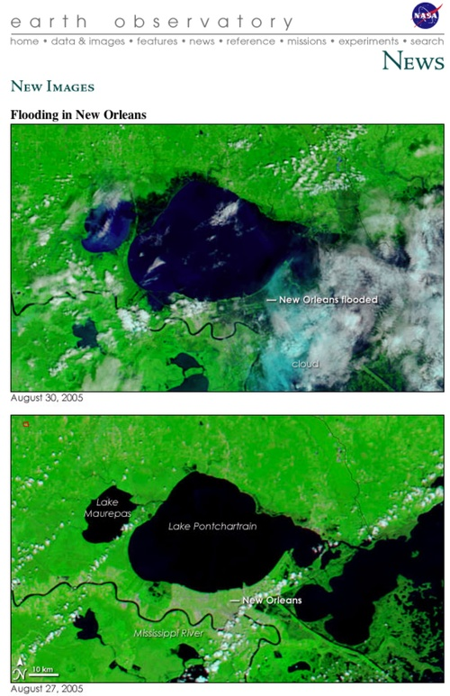NASA's First Katrina Before and After Comparison